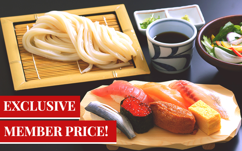 New Lunch Menu, Udon and Sushi Set for only $12.80++!