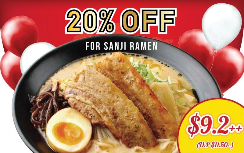 20% OFF for Sanji Ramen