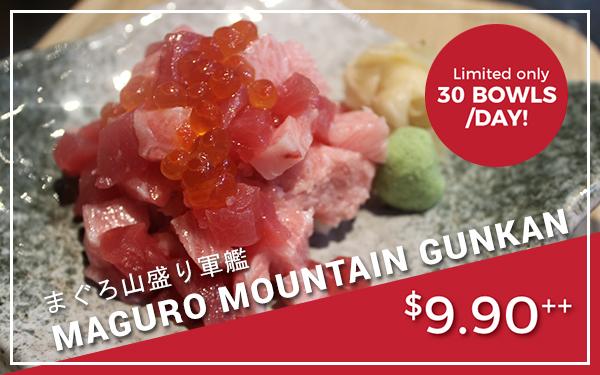 Maguro Mountain Gunkan - $9.90++