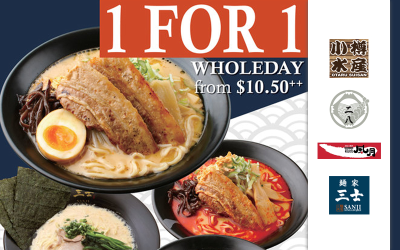 1-for-1 Anniversary Ramen, Exclusive Salmon Tower Don, Prosperity Yu Sheng and many Yummy Deals~