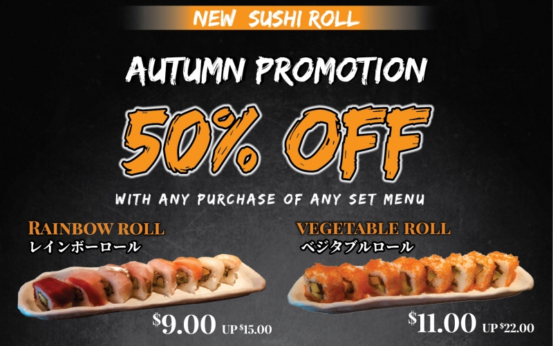 Autumn Promotion, Enjoy 50% OFF!!!