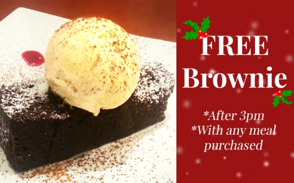 Free Brownie with any meal purchased!
