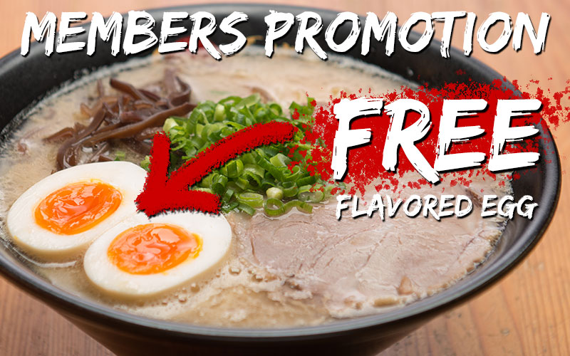 FREE flavored egg & 20% OFF for STUDENT!