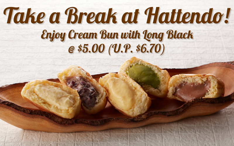 Enjoy Cream Bun with Long black at $5! (U.P. $6.70)