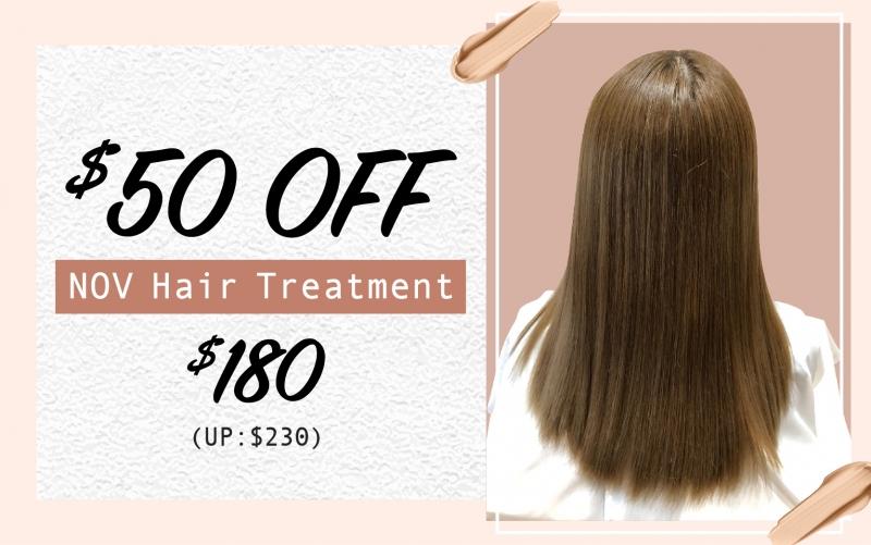 $50 OFF for NOV Hair Treatment