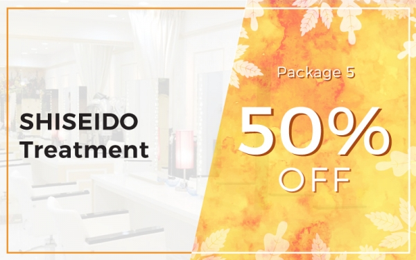 Package 5: 50% OFF SHISEIDO Treatment