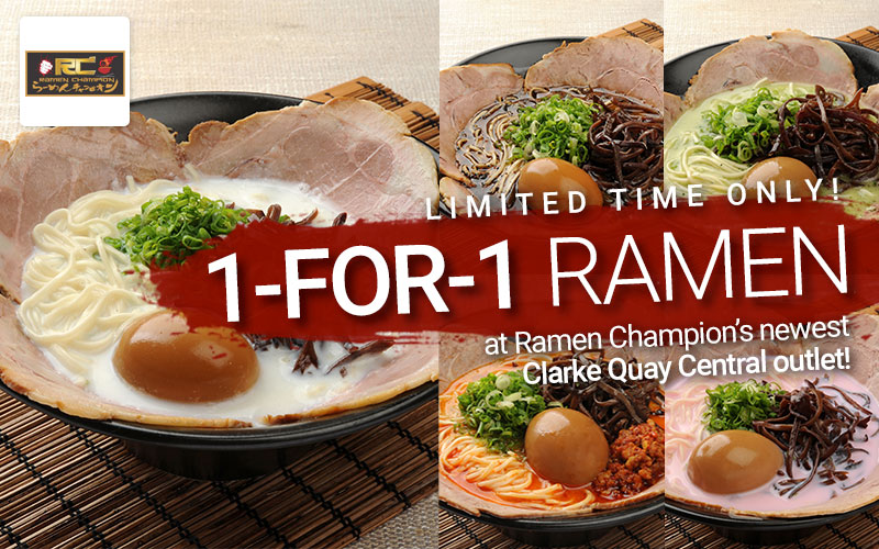 Now open at Clarke Quay Central! Enjoy 1 FOR 1!