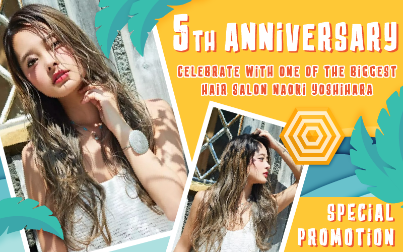 Celebrate with one of the biggest hair salon Naoki Yoshihara by Ash in Singapore