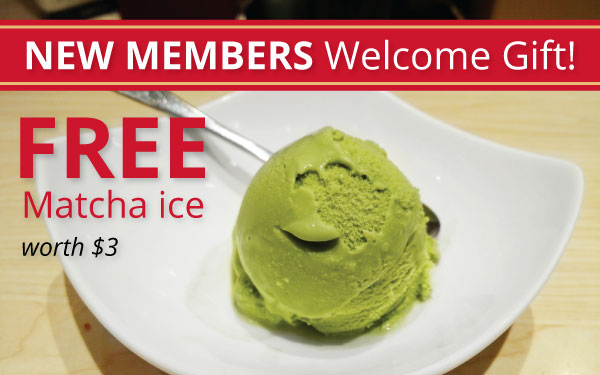 FREE Matcha Ice for new members