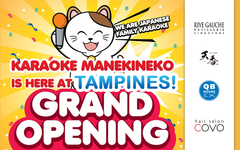 Manekineko Tampines GRAND OPENING, 20% Off Japanese Whole Cakes, Free Udon, Tokyo Summer Park event and more this weekend!