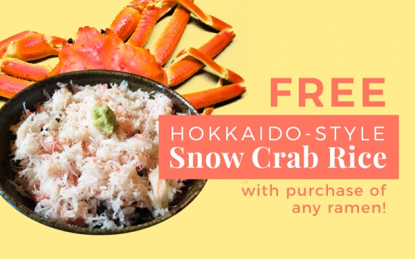 FREE Hokkaido-style Snow Crab Rice