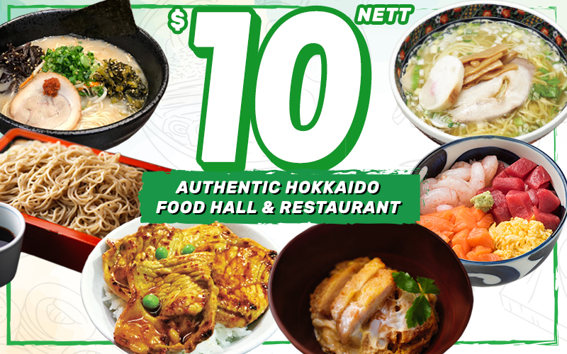 $10 Menu at Hokkaido Marche! Authentic Hokkaido Food Hall & Restaurant. (ALL NETT Price!!)