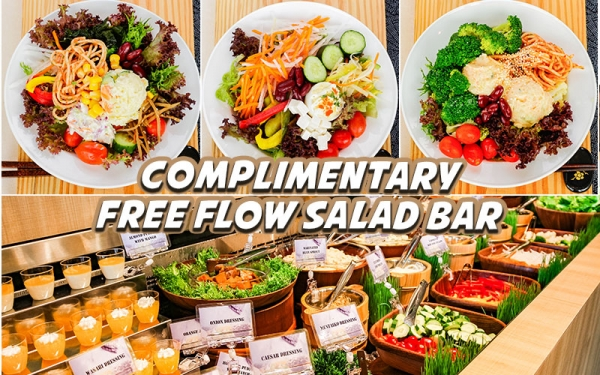 Complimentary Free Flow Salad Bar (For Dine in)
