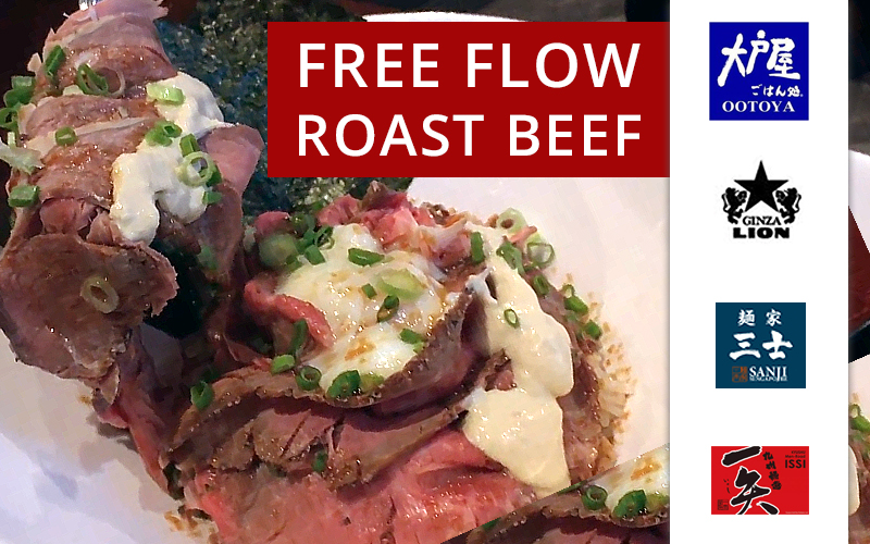 Free Flow Roast Beef, New Dishes from Gyutan to Ramen this weekend!