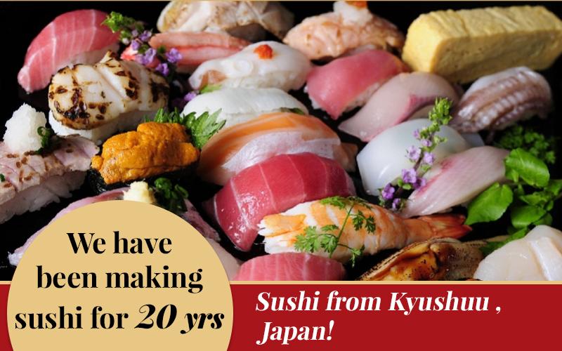 AFFORDABLE and FRESH sushi serve at Aburi Sushi Heishirou