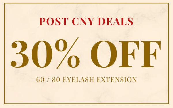 30% Off 60/80 Eyelash Service [New Customers Only]