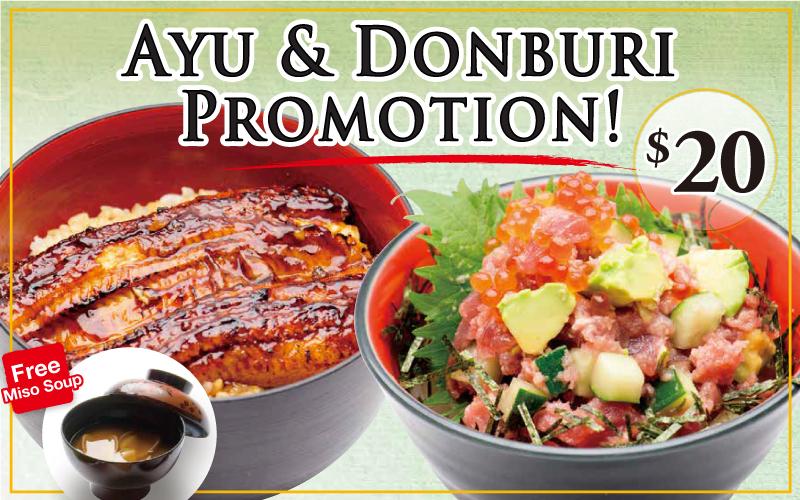 Ayu & Donburi Promotion at Tomi Sushi