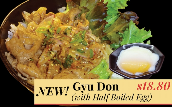 NEW Gyu Don with half boiled egg - $16.80!
