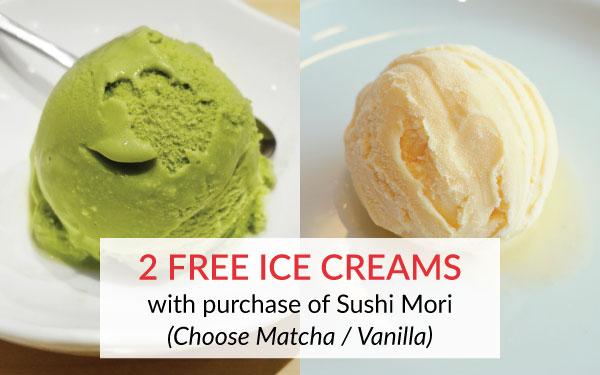 2 Free Ice Creams