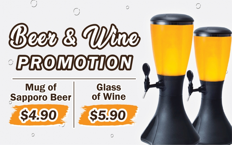 Sapporo Beer & Wine Promotion!