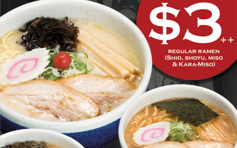 $3++ Ramen! Only on ONE DAY! Save this deal now!