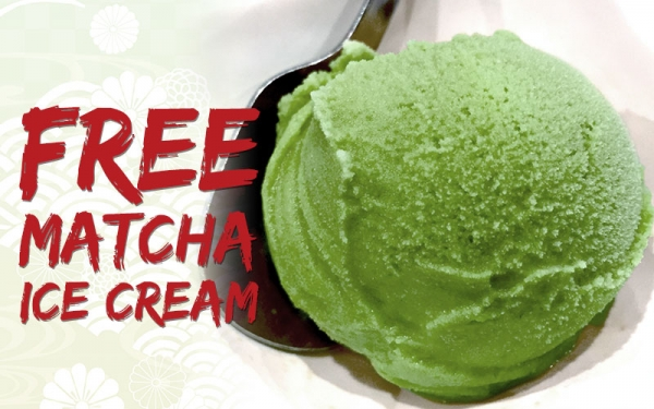 Free Matcha Ice Cream