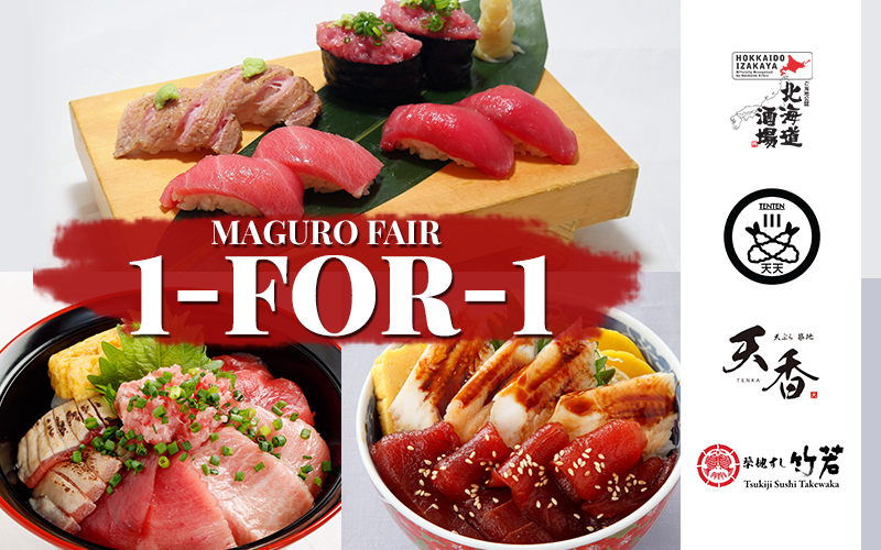 1-for-1 Salmon and Maguro Fair!! Plus Valentines and Chinese New Year's Special~