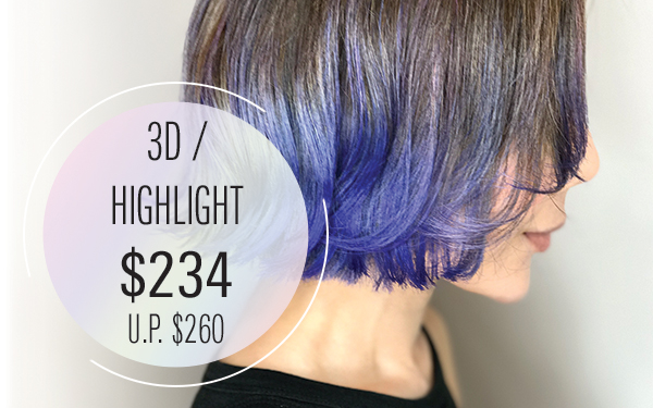 3D / Highlight $234 (U.P. $260) [ For New Customer only ]