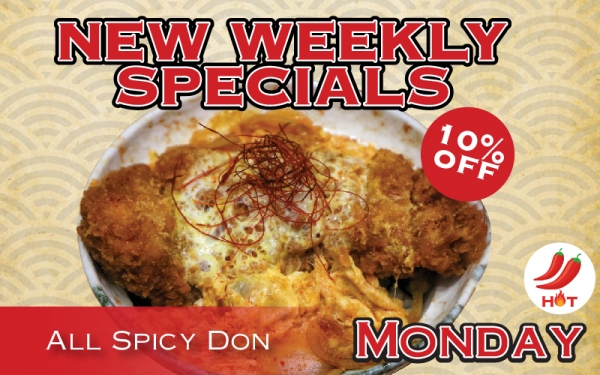 All Spicy Don 10% OFF (Monday)