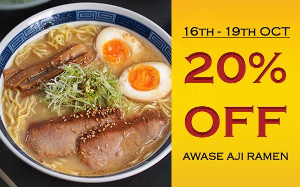 Limited Time only - 20% Off Awase Aji Ramen (U.P. $15.00++)