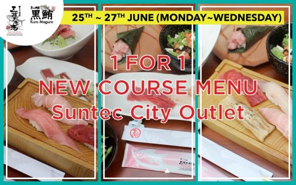 1 FOR 1 New Course Menu at Suntec City