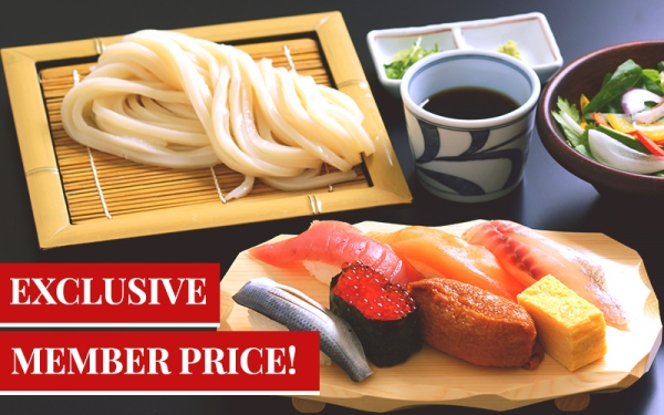 Exclusive Sushi Udon Lunch Set - $12.80 [11am - 12noon]