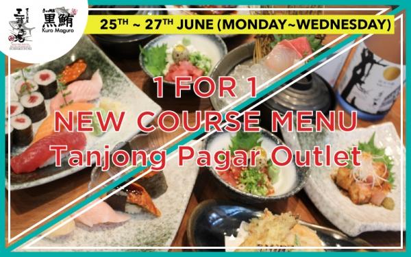 1 FOR 1 New Course Menu at Tanjong Pagar