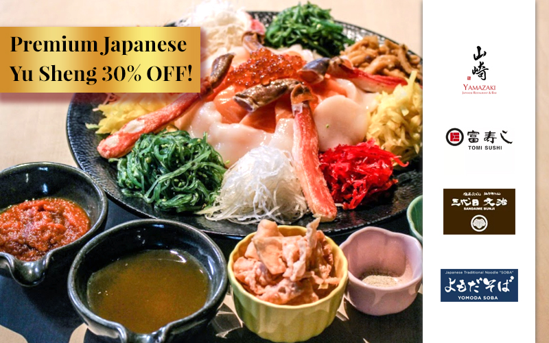 Prosper the New Year with Premium Japanese Yu Sheng, Limited Season Menu, Hair Style Promotions and many more!