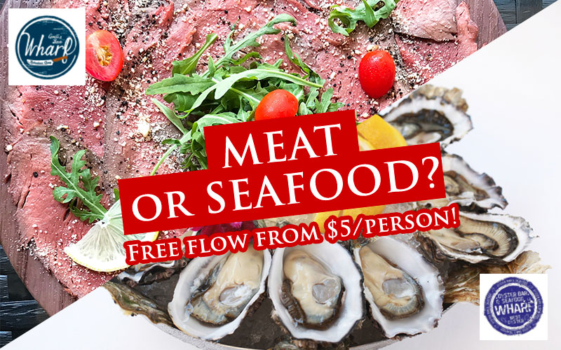 Free flow roast beef at RQ outlet and 50% off full dozen oyster at chijmes outlet