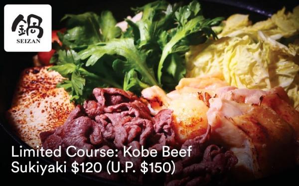 NABE SEIZAN: Kobe Beef Sukiyaki $120 (U.P. $150)