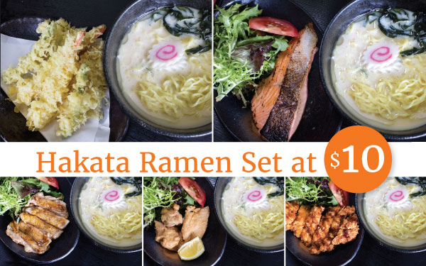Hataka Ramen Set for only $10! Don't miss out!