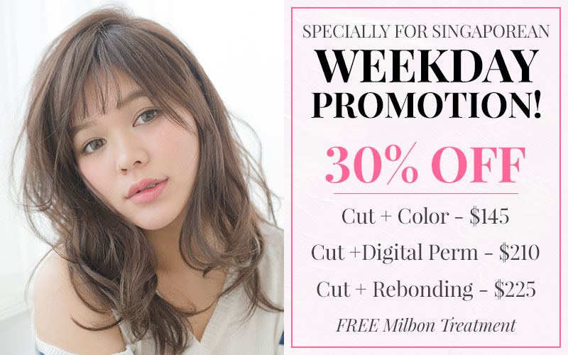 30% OFF & FREE Milbon Treatment?! Don't miss this wonderful deal!