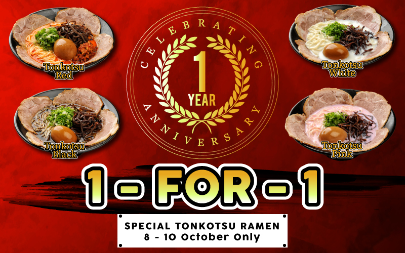 ONE YEAR ANNIVESARY AT RAMEN CHAMPION CLARKE QUAY CENTRAL!