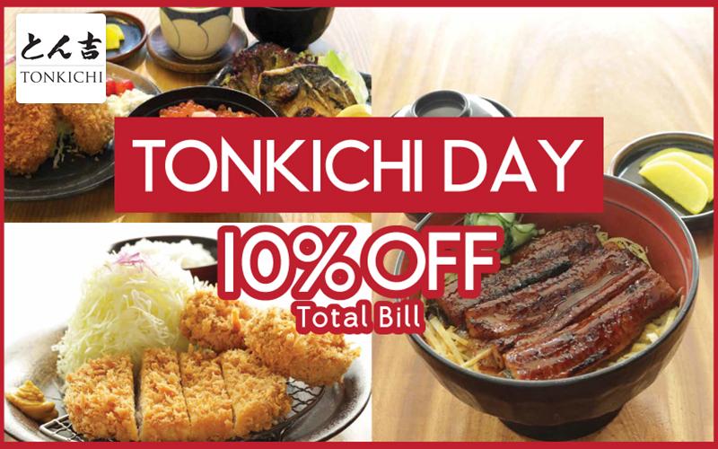 Tonkichi day is back! 10%OFF total bill for jpassport members