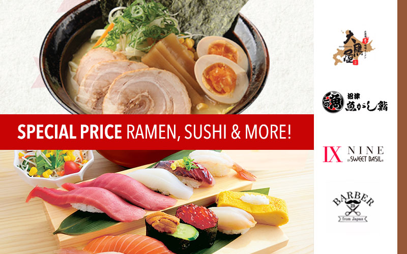Miso Ramen Fair, Authentic Sushi at 50% Off, Japanese Summer Food and more!
