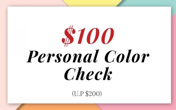 Personal Check Color - $100 (U.P. $200)