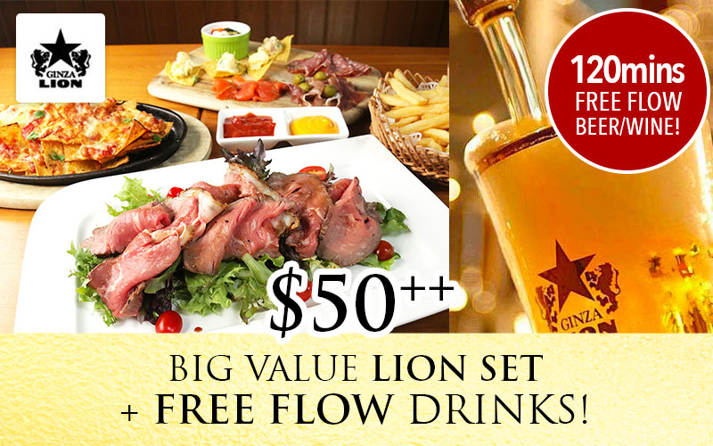 Big Value Free flow menu for only $50++ exclusive for Jpassport member with online reservation