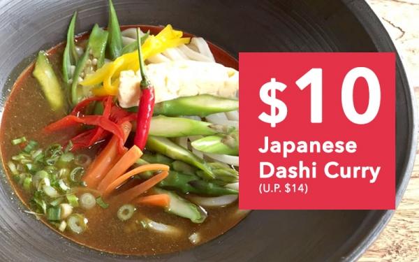 Dinner Menu - Japanese Dashi Curry $10 (U.P. $14)
