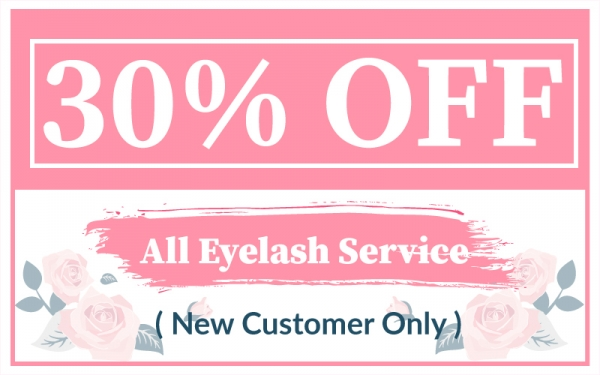 [New Customers Only] 30% Off Eyelash Service