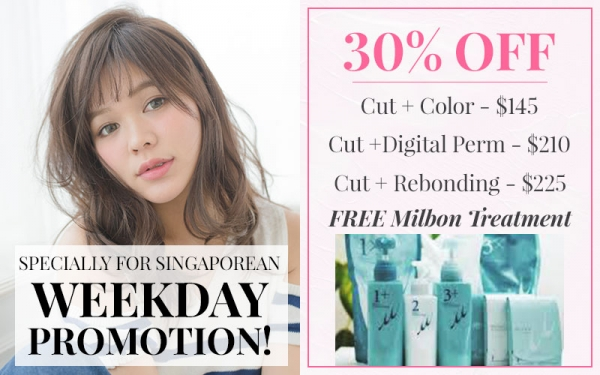 Specially for Singaporean : Weekday Promotion 30% OFF