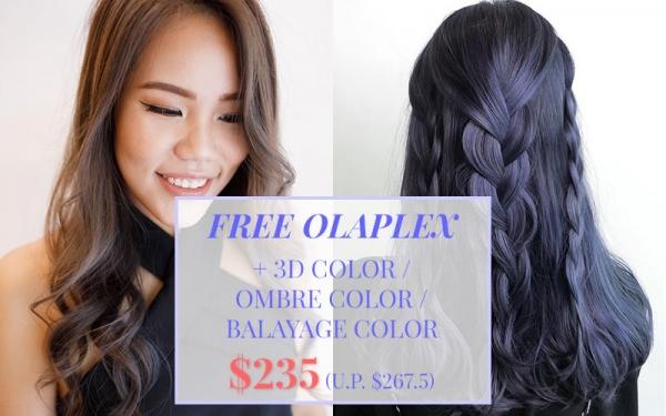 REGULAR CUSTOMERS: Free OLAPLEX + 3D color / Ombre color / Balayage color