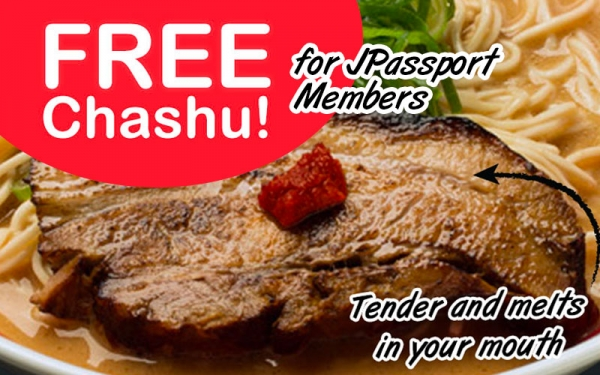 FREE CHASHU at BOTH OUTLETS