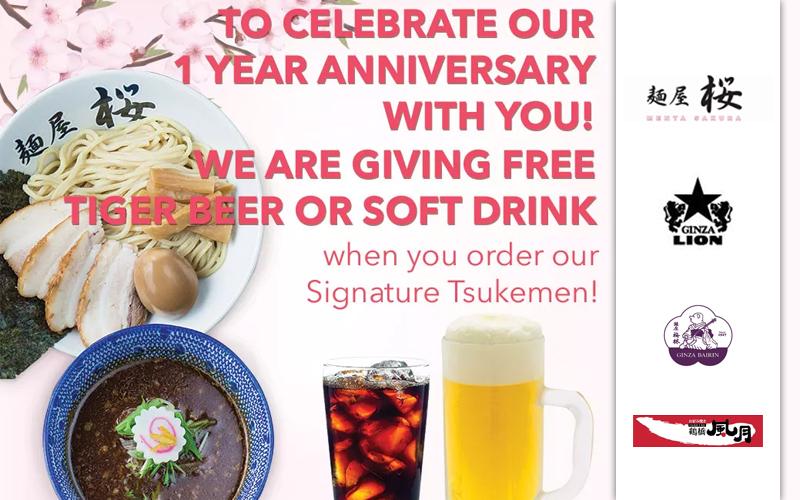 Anniversary Ramen Promotion, $8.80 Katsu Deals, New Yakisoba Menu, Sakura Dessert and many more!