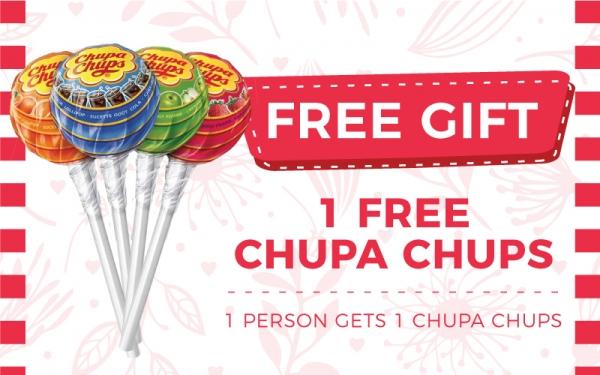 Free Chupa Chups (1pc)